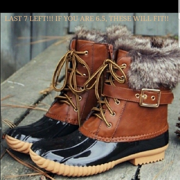 80a956b78d2ad FUR LINED DUCK BOOTS❤❤❤❤❤